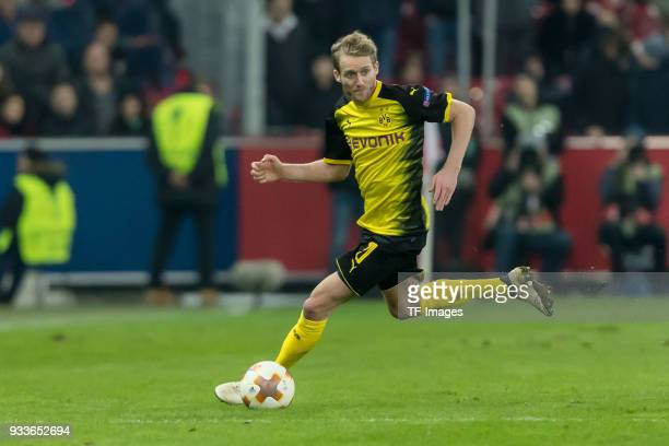 Andre Schuerrle of Dortmund controls the ball during UEFA Europa League Round of 16 second leg match between FC Red Bull Salzburg and Borussia...