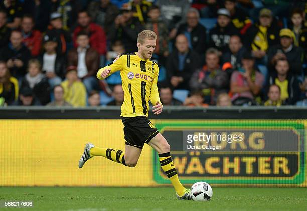 Andre Schuerrle of Dortmund in action during the friendly match between AFC Sunderland v Borussia Dortmund at Cashpoint Arena on August 5 2016 in...