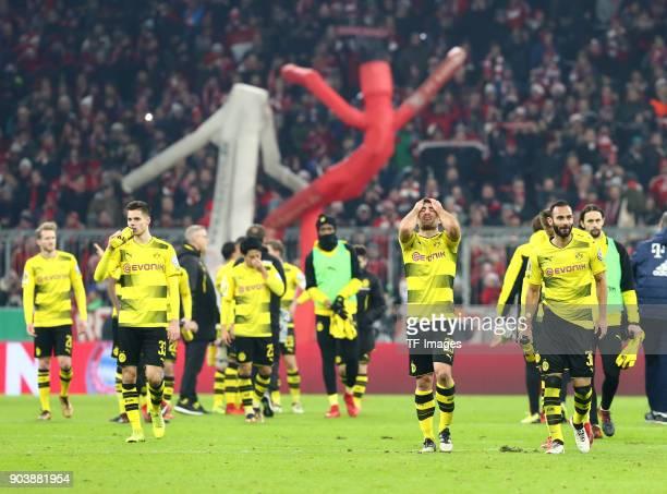 Andre Schuerrle of Dortmund Julian Weigl of Dortmund Shinji Kagawa of Dortmund DanAxel Zagadou of Dortmund Sokratis Papastathopoulos of Dortmund...