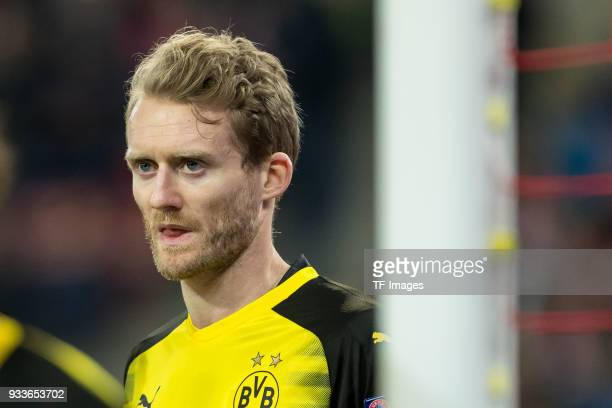 Andre Schuerrle of Dortmund looks on during UEFA Europa League Round of 16 second leg match between FC Red Bull Salzburg and Borussia Dortmund at the...