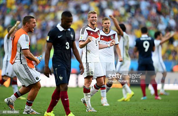 Andre Schuerrle of Germany celebrates the 10 win after the 2014 FIFA World Cup Brazil Quarter Final match between France and Germany at Maracana on...