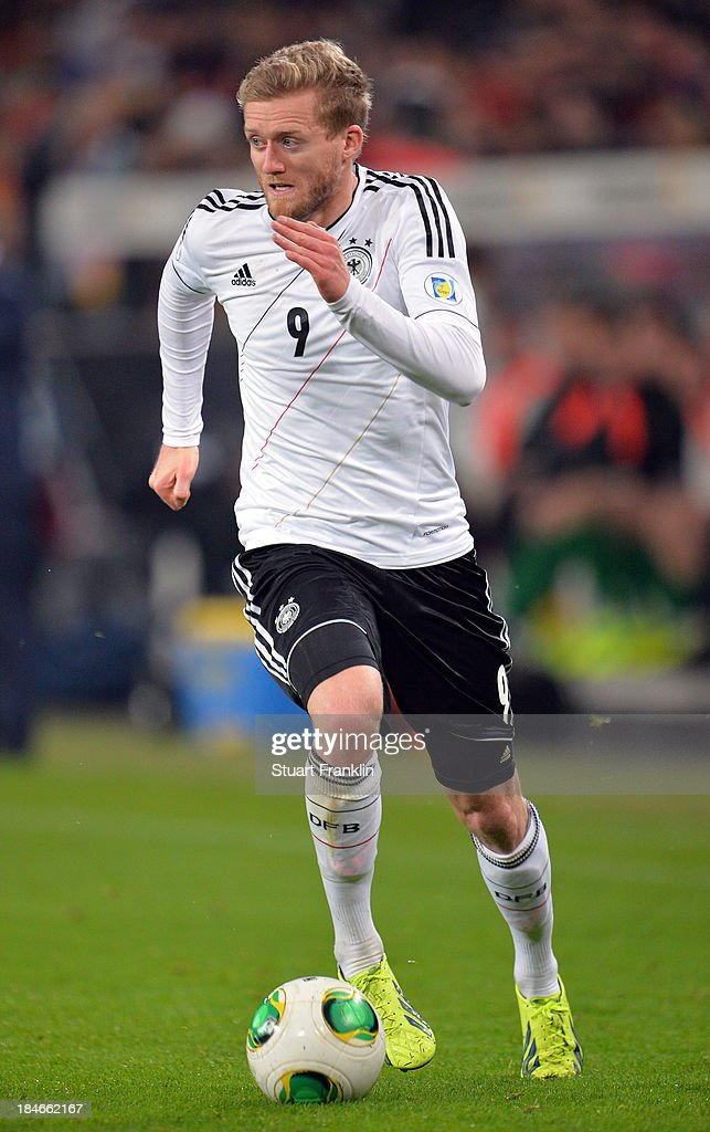 Andre Schuerrle of Germany in action during the FIFA world Cup 2014 qualification match between Germany and Republic of Ireland at the Rheinenergy stadium on October 11, 2013 in Cologne, Germany.