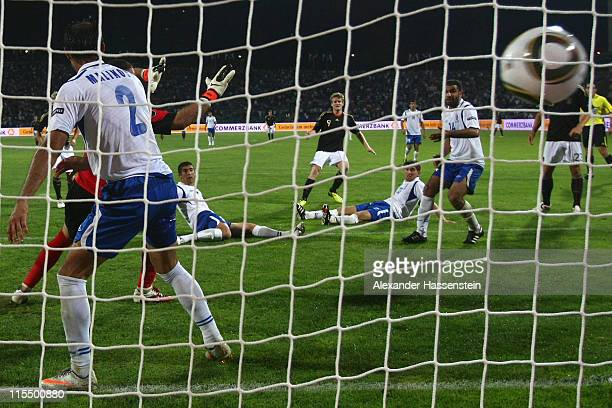Andre Schuerrle of Germany scores the 4th goal during the UEFA EURO 2012 qualifying match between Azerbaijan against Germany at TofigBahramovStadium...