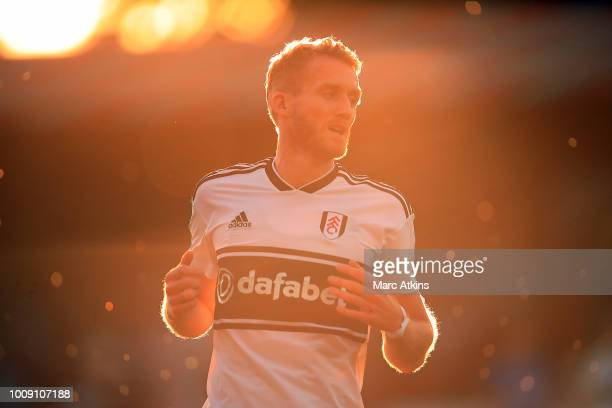 Andre Schurrle of Fulham during the PreSeason Friendly between Fulham v Sampdoria at the EBB Stadium on August 1 2018 in Aldershot England
