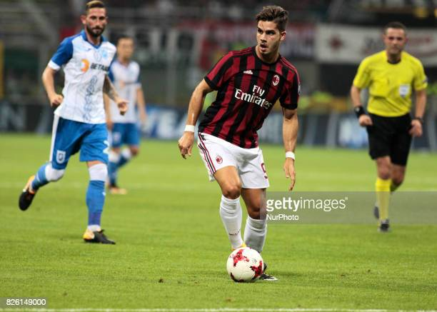 Andre Silva during the preliminaries of Europa League 2017/2018 match between Milan v Craiova in Milan on august 3 2017