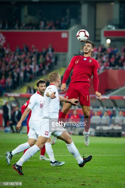 Andre Silva during the UEFA Nations League A soccer match between Poland and Portugal at Silesian Stadium in Chorzow Poland on 11 October 2018