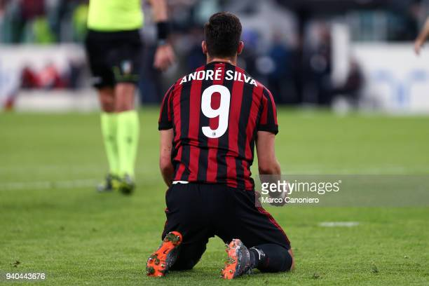 Andre Silva of Ac Milan during the Serie A football match between Juventus Fc and Ac Milan Juventus Fc wins 31 over Ac Milan