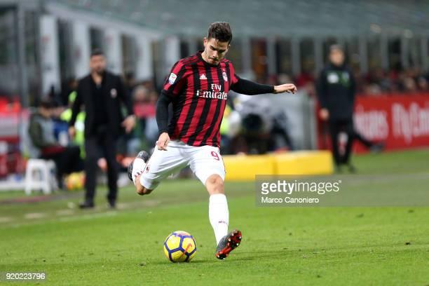 Andre Silva of Ac Milan in action during the Serie A football match between AC Milan and Uc Sampdoria Ac Milan wins 10 over Uc Sampdoria