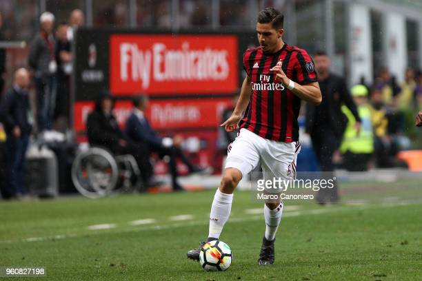 Andre Silva of Ac Milan in action during the Serie A football match between AC Milan and Acf Fiorentina Ac Milan wins 51 over Acf Fiorentina