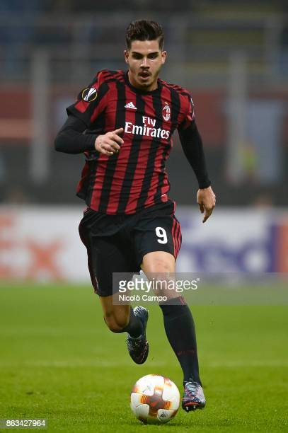 Andre Silva of AC Milan in action during the UEFA Europa League football match between AC Milan and AEK Athens The match ended in a 00 draw