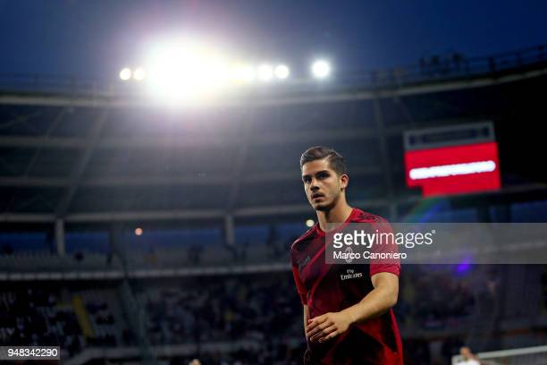 Andre Silva of Ac Milan looks on before the Serie A football match between Torino Fc and Ac Milan The match end in a tie 11