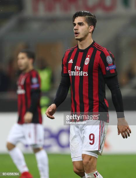 Andre Silva of AC Milan looks on during UEFA Europa League Round of 32 match between AC Milan and Ludogorets Razgrad at the San Siro on February 22...