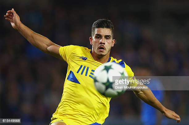 Andre Silva of FC Porto in action during the UEFA Champions League Group G match between Club Brugge KV and FC Porto at Jan Breydel Stadium on...