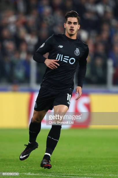 Andre SIlva of FC Porto in action during the UEFA Champions League Round of 16 second leg match between Juventus and FC Porto at Juventus Stadium on...