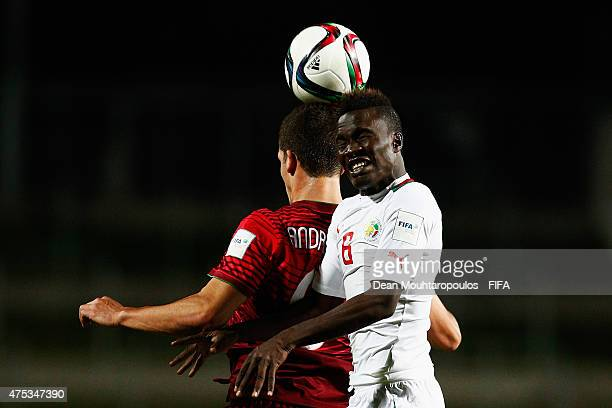 Andre Silva of Portugal and Elimane Cisse of Senegal battle for the ball during the FIFA U20 World Cup New Zealand 2015 Group C match between...