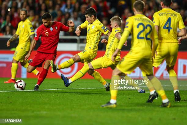 Andre Silva of Portugal and Sevilla FC during the 2020 UEFA European Championships qualifying match between Portugal and Ukraine at Estadio do Sport...