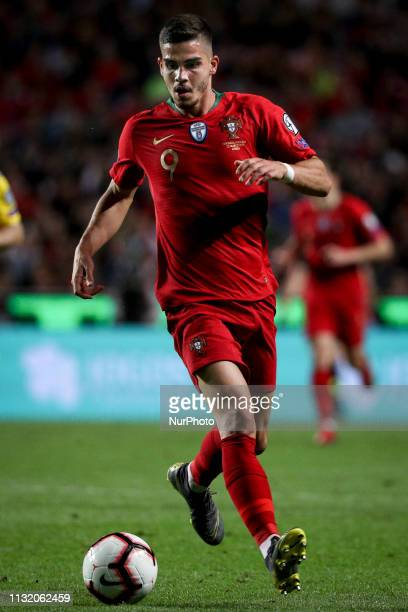 Andre Silva of Portugal and Sevilla FC during the Euro 2020 qualifying football match Portugal vs Ukraine at Luz stadium in Lisbon on March 22 2019