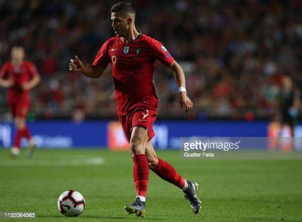 Andre Silva of Portugal and Sevilla FC in action during the UEFA Euro 2020 Qualifier match between Portugal and Ukraine at Estadio do Sport Lisboa e...
