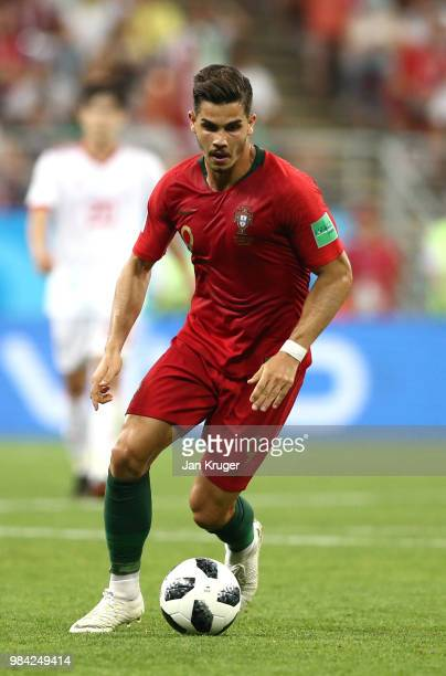 Andre Silva of Portugal controls the ball during the 2018 FIFA World Cup Russia group B match between Iran and Portugal at Mordovia Arena on June 25...