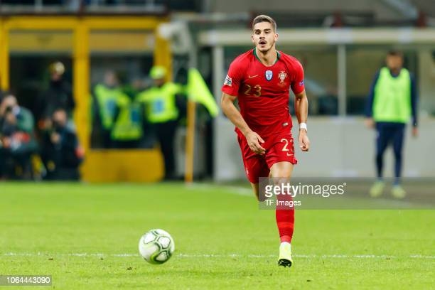 Andre Silva of Portugal controls the ball during the UEFA Nations League A group three match between Italy and Portugal at Stadio Giuseppe Meazza on...