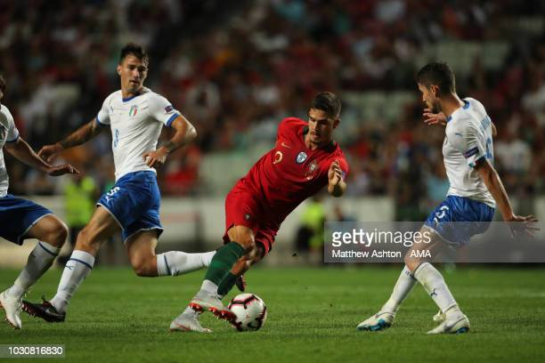 Andre Silva of Portugal during the UEFA Nations League A group three match between Portugal and Italy at Estadio do Sport Lisboa e Benfica on...