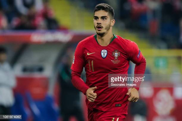 Andre Silva of Portugal during the UEFA Nations league match between Poland v Portugal at the Slaski Stadium on October 11 2018 in Chorzow