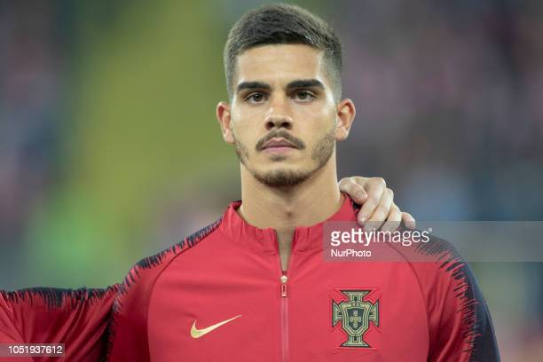 Andre Silva of Portugal during UEFA Nations League A match between Poland and Portugal at Silesian Stadium in Chorzow Poland on October 11 2018