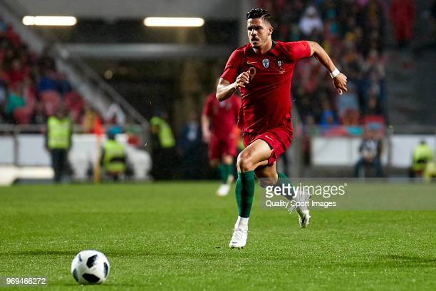 Andre Silva of Portugal in action during the friendly match of preparation for FIFA 2018 World Cup between Portugal and Algeria at the Estadio do...