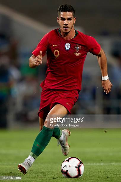 Andre Silva of Portugal in action during the International Friendly match between Portugal and Croatia at Algarve Stadium on September 6 2018 in Faro...