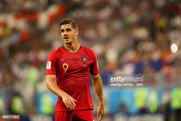 Andre Silva of Portugal looks on during the 2018 FIFA World Cup Russia group B match between Iran and Portugal at Mordovia Arena on June 25 2018 in...