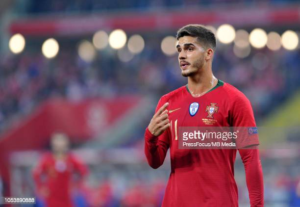 Andre Silva of Portugal looks on during the UEFA Nations League A group three match between Poland and Portugal at Silesian Stadium on October 11...