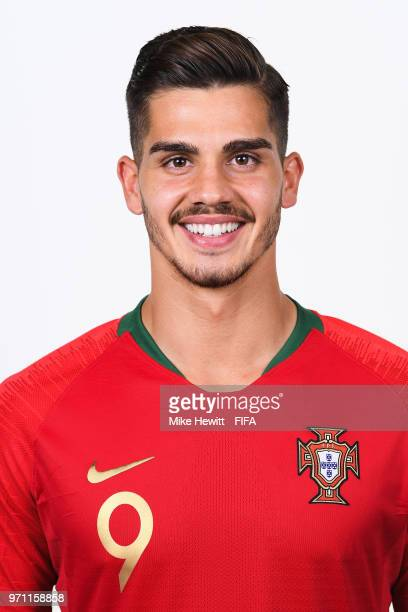 Andre Silva of Portugal poses for a portrait during the official FIFA World Cup 2018 portrait session on June 10 2018 in Moscow Russia