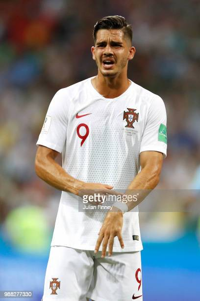 Andre Silva of Portugal reacts during the 2018 FIFA World Cup Russia Round of 16 match between Uruguay and Portugal at Fisht Stadium on June 30 2018...