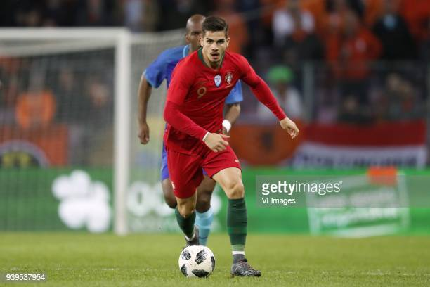 Andre Silva of Portugal Ryan Babel of Holland during the International friendly match match between Portugal and The Netherlands at Stade de Genève...