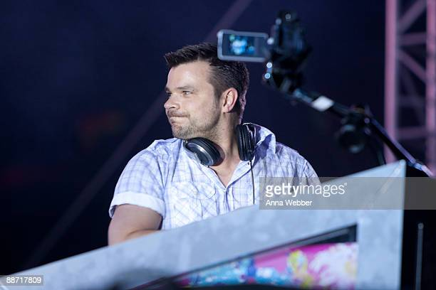 ATB Andre Tanneberger performs at the 13th Annual Electric Daisy Carnival at the Los Angeles Memorial Coliseum on June 26 2009 in Los Angeles...