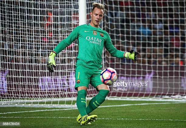 Andre Ter Stegen during the match corresponding to the Joan Gamper Trophy played at the Camp Nou stadiium on august 10 2016