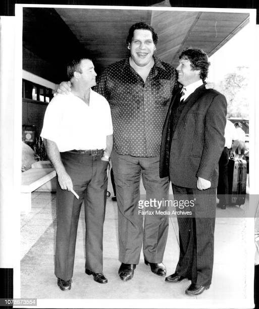 Andre The Giant' 7 foot 4 inches 475lbs returned to the Sydney this morning for some Wrestling engagement in Sydney and near country clubsAustralian...
