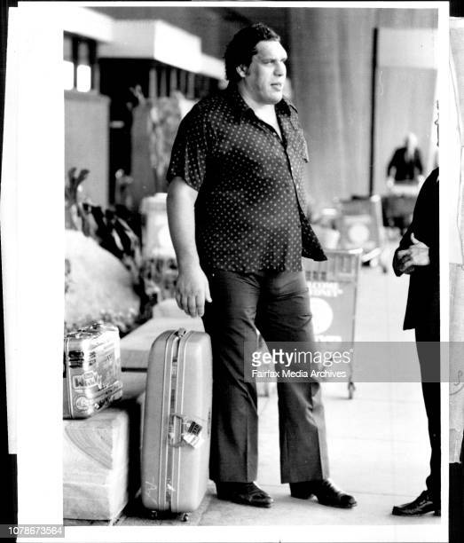 Andre The Giant' 7foot 4inches 475lbs returned to the Sydney this morning for some Wrestling engagement in Sydney and near country clubs December 13...