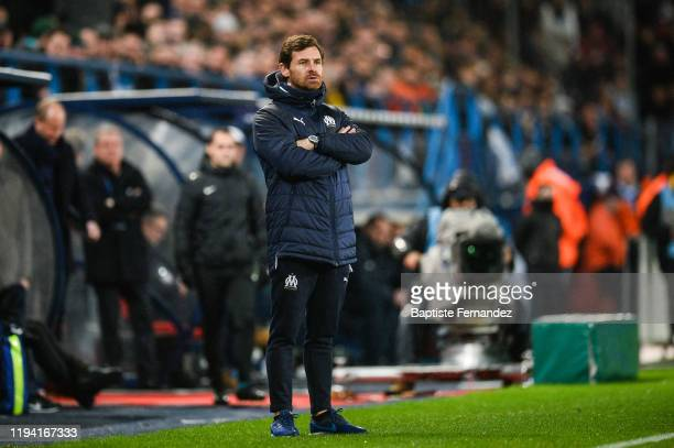 Andre VILLAS BOAS head coach of Marseille during the French Cup Soccer match between US Granville and Olympique de Marseille at Stade Michel D'Ornano...