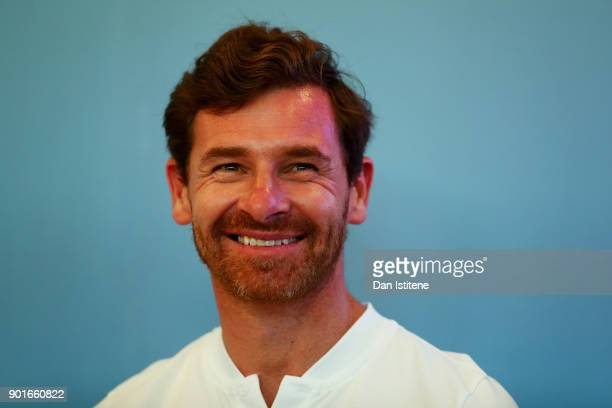 Andre Villas Boas of Portugal and Overdrive Toyota speaks with members of the media during previews for the 2018 Dakar Rally on January 5 2018 in...