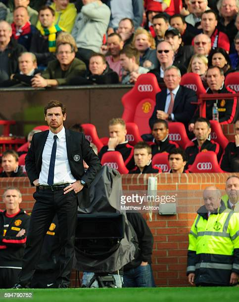 Andre Villas Boas the head coach / manager of Chelsea with Sir Alex Fersuson the head coach / manager of Manchester United looking on
