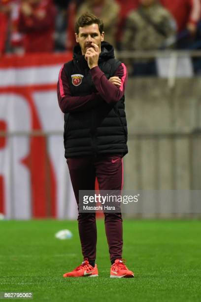 Andre Villas Boascoach of Shanghai SIPG looks on during the AFC Champions League semi final second leg match between Urawa Red Diamonds and Shanghai...