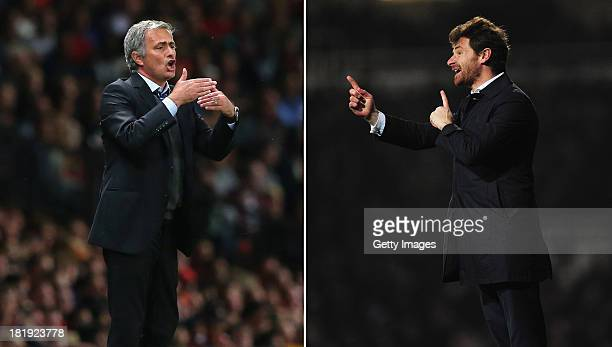 COMPOSITE OF TWO IMAGES Image Numbers 177995833 and 162765732 In this digital composite a comparison has been made between Jose Mourinho Manager of...