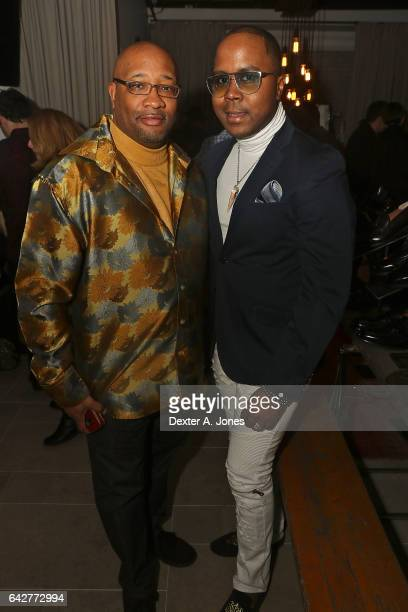 Andre Von Boozier and guest attends the Von Boozier launch at the Refinery Hotel on February 17 2017 in New York City