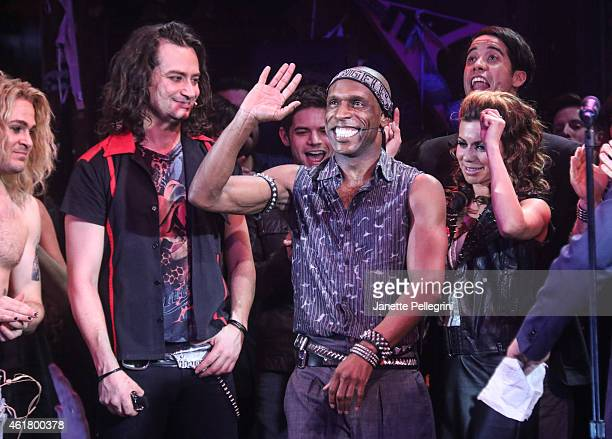 Andre Ward attends 'Rock Of Ages' Final Performance On Broadway at Helen Hayes Theatre on January 18 2015 in New York City