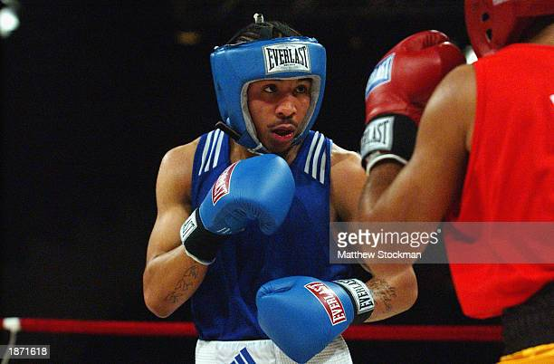 Andre Ward boxes Anibal Rodriguez of Puerto Rico during the Titan Games on February 15, 2003 at the Event Center at San Jose State University in San...