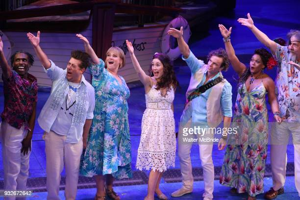 Andre Ward Eric Peterson Lisa Howard Alison Luff Paul Alexander Nolan Rema Webb and Don Sparks with cast during the the Broadway Opening Night...