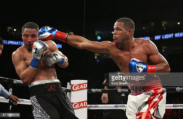 42532d968b3 Andre Ward fights against Sullivan Barrera in their IBF Light Heavyweight  bout at ORACLE Arena on