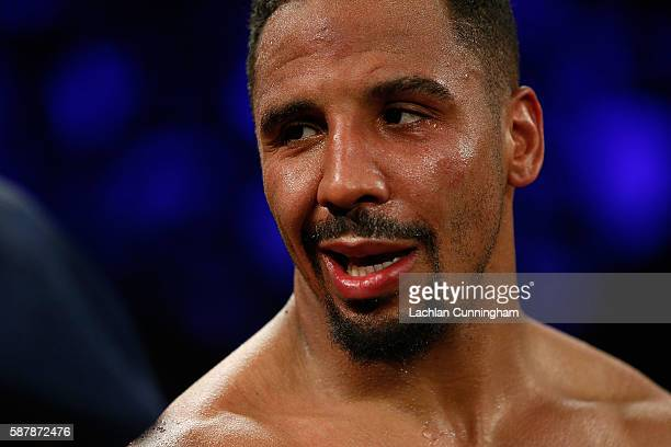 Andre Ward looks on during his WBO Intercontinental Light Heavyweight Title bout against Alexander Brand at ORACLE Arena on August 6 2016 in Oakland...