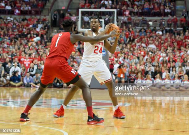 Andre Wesson of the Ohio State Buckeyes looks to pass the ball during the game between the Ohio State Buckeyes and the Rutgers Scarlet Knights at the...